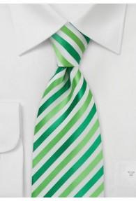Krawatte Mikrofaser Streifen Hellgrün Waldgrün