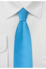 Schmale Krawatte unifarben hellblau