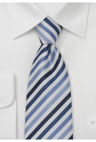 Multistripes Kinder-Krawatte blau/weiß
