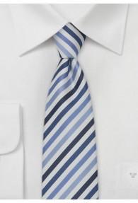 Multistripes schmale  Krawatte blau/weiß