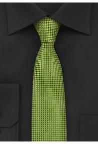 Strukturierte Krawatte grün schmal