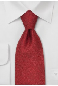 XXL-Krawatte mit rotem Paisleymuster