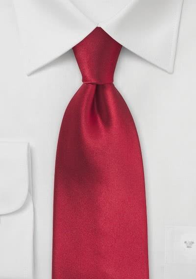 Einfarbige XXL-Krawatte klassisch rot