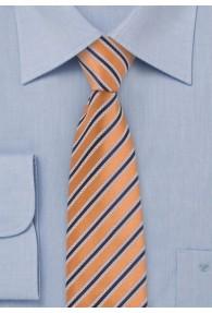 Schmale Krawatte Streifendessin orange