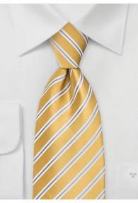 Krawatte Streifen gelb grau