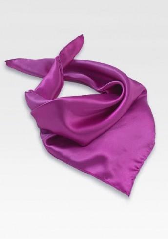 Halstuch magenta Polyester