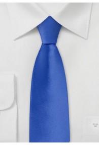 Schmale Krawatte königsblau einfarbig