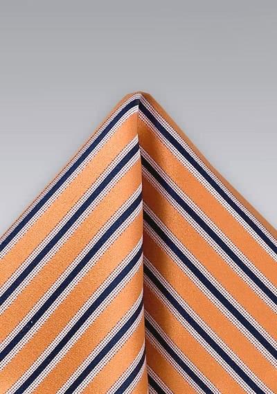 Einstecktuch Streifenmuster Orange