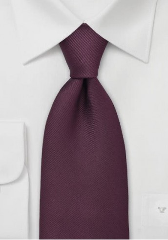 Krawatte Luxury bordeaux Ripsstruktur