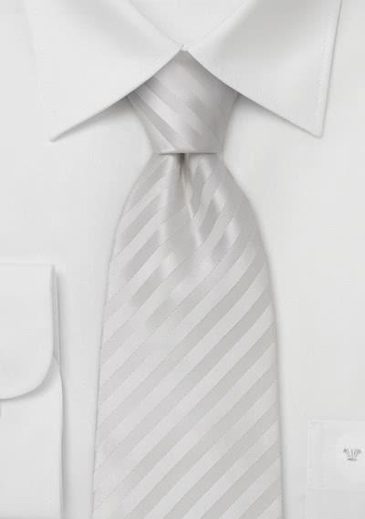 Clip-Krawatte weiß