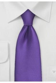Mikrofaser-Krawatte unifarben violett