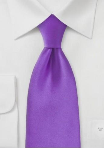 Mikrofaser-Krawatte einfarbig lila