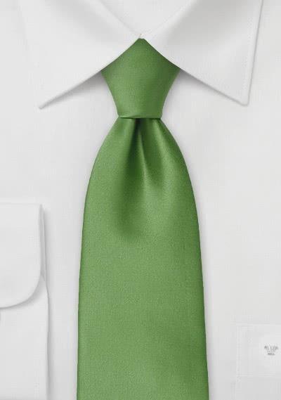 Einfarbige Mikrofaser-Krawatte grün