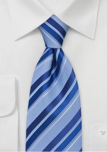 Krawatte Streifenmuster Himmelblau Königsblau