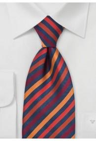 Krawatte Streifenstruktur Orange Navy