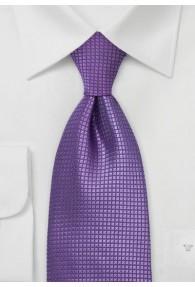 Krawatte Lila Gittermuster