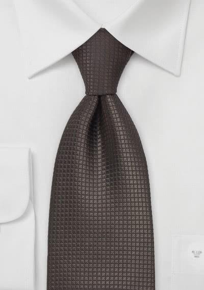 Krawatte Mokka Gitterstrukturen