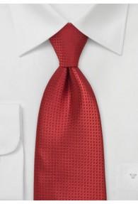 Krawatte unifarben rot