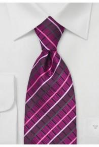Krawatte Dekor Quader Magenta