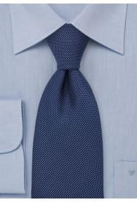 Auffallende Krawatte marineblau Struktur