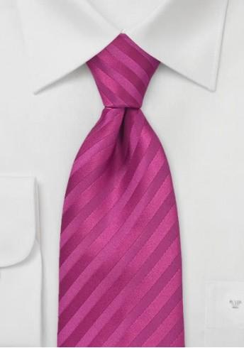 Mikrofaser-Krawatte einfarbig dark pink Streifenstruktur