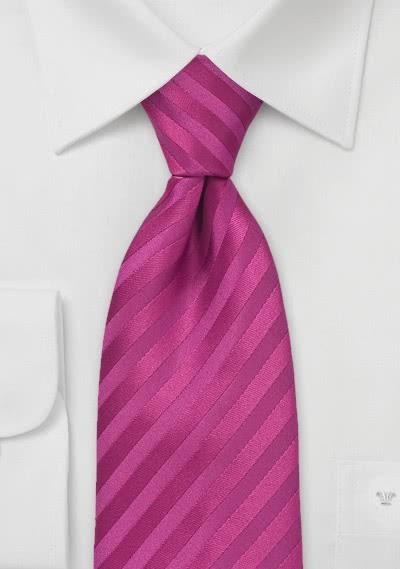 Mikrofaser-Krawatte einfarbig dark pink