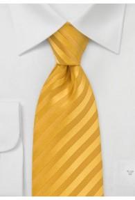 Krawatte Streifenstruktur unifarben gelb