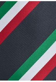 National-Herrenkrawatte Italien in Grün Weiß Rot