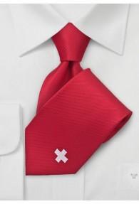 National-Herrenkrawatte Schweiz Rot