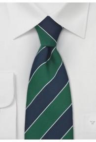 Clubkrawatte XXL Streifen navy grün