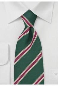 Krawatte waldgrün/gold/rot