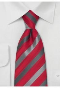 Kinder-Krawatte rot grau