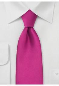 Clip- Krawatte in magenta