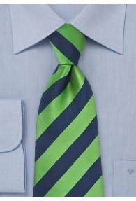 Businesskrawatte navy grün Streifendesign
