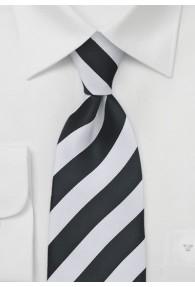 Krawatte schwarz weiß Streifendessin