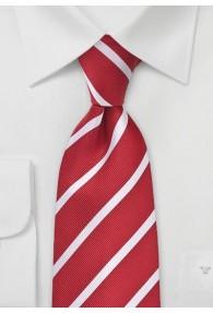 Businesskrawatte rot Streifen-Dessin