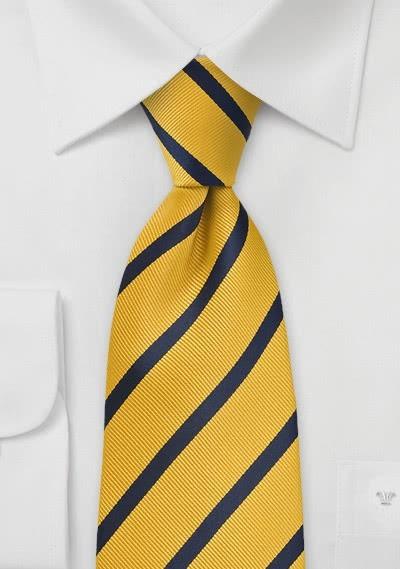 Krawatte Gelb Streifendesign-Pattern