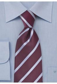 Businesskrawatte Bordeaux Streifendesign-Pattern