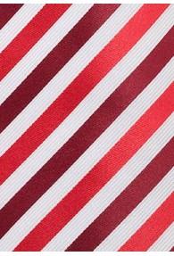 KInder-Krawatte Mikrofaser Streifen Kirsche Bordeaux