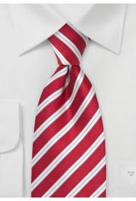 Businesskrawatte rot italienisches Streifen-Dekor