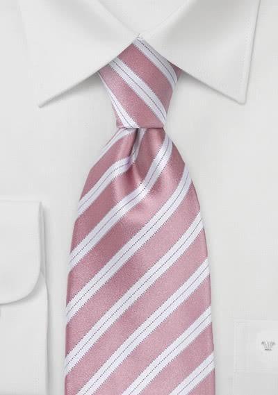 Krawatte rosa italienisches Streifen-Dekor
