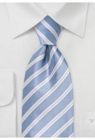 Krawatte eisblau italienisches Streifen-Muster