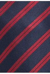 Herrenkrawatte dunkelblau rot italienisches Streifen-Dessin