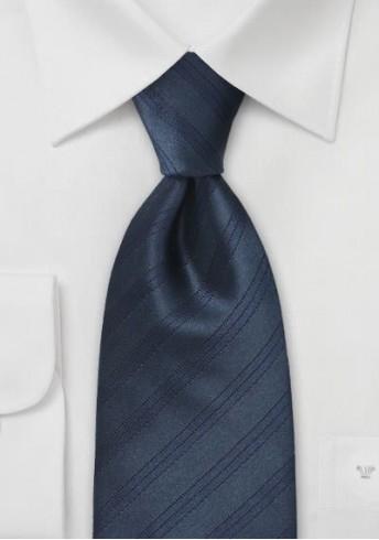 Herrenkrawatte dunkelblau italienisches Streifen-Dessin