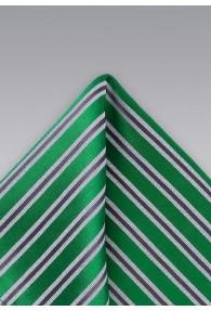 Einstecktuch Grün Streifenstruktur
