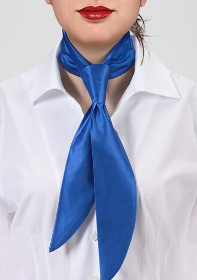Damenkrawatte unifarben königsblau