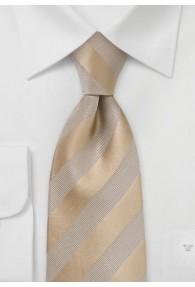 Krawatte Streifendesign sandfarben ecru