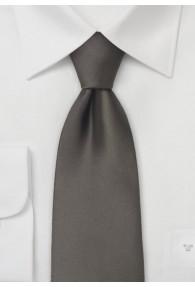 Mikrofaser-Krawatte einfarbig dunkles Mokka