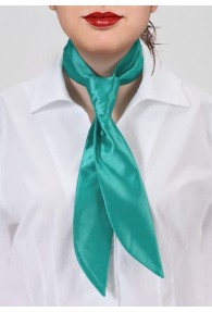 Krawatte für Damen aqua Mikrofaser