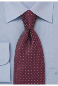 Krawatte Punkte-Dessin weinrot